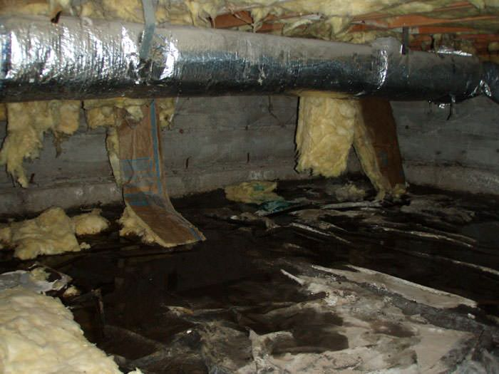 We clean crawl spaces in california crawl space cleanup Crawl space flooring