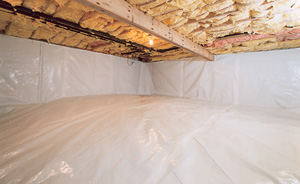 Encapsulated Crawl Space with Vapor Barrier and Crawl Space Vent Covers in Daly City