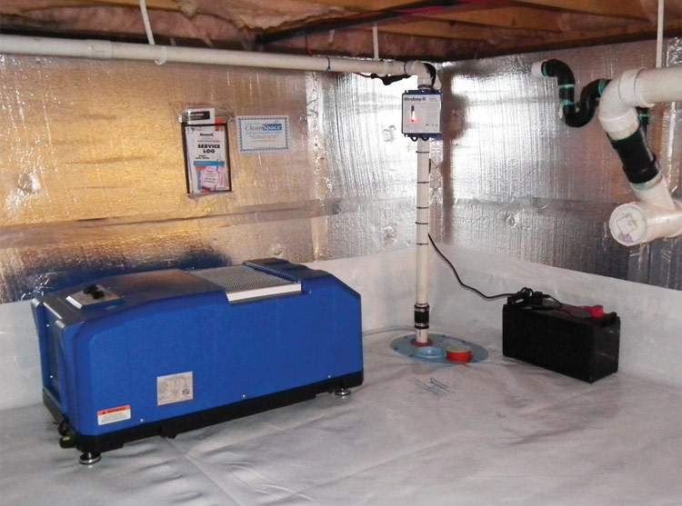 An energy efficient ENERGY STAR  rated crawl space dehumidifier installed  in CA. Crawl Space Dehumidifier in Bay Area  CA   Energy Efficient