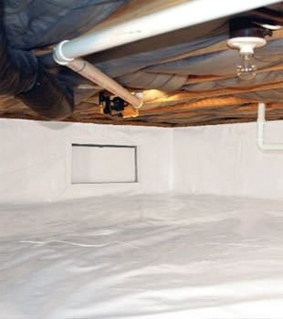 A complete crawl space vapor barrier in Citrus Heights installed by our contractors