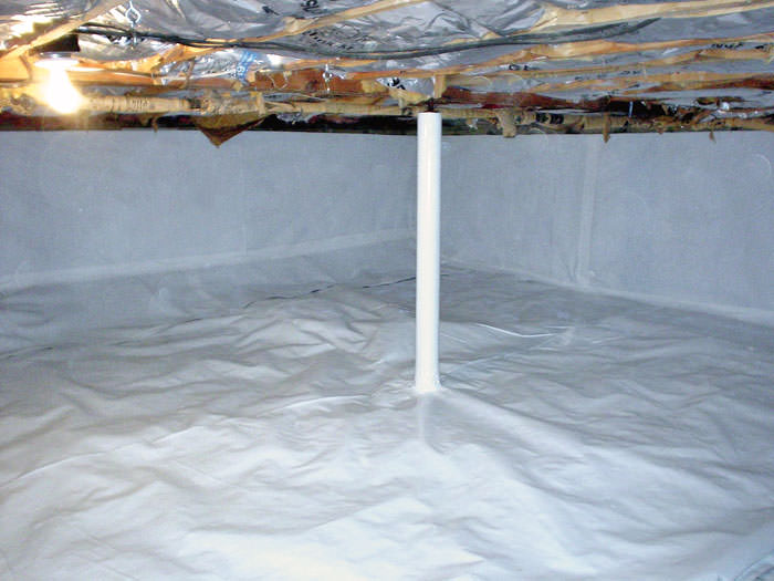 Crawl E Vapor Barrier Installation Moisture System