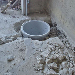 Placing a sump pit in a Concord home